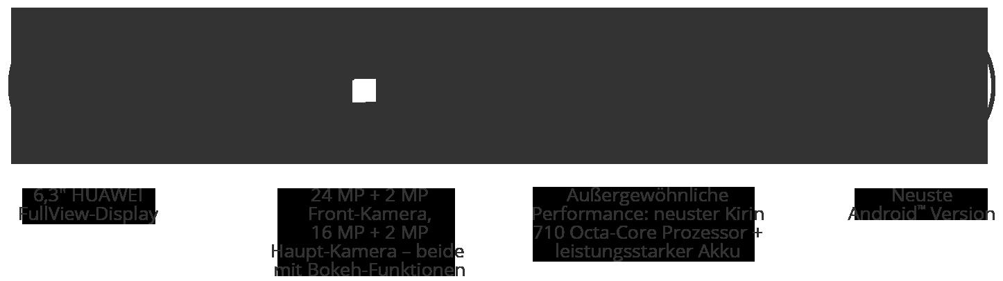 Huawei P Smart + Black